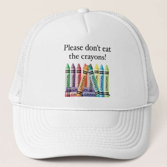 Please don't eat the crayons cap