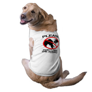 Please Don't Feed the Animals (Republican) Sleeveless Dog Shirt