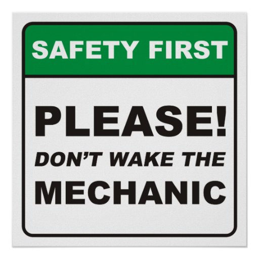 Please, don't wake the Mechanic! Print