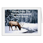 Please Enjoy This Nondenominational Winter Scene. Card
