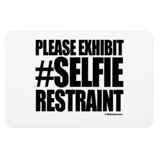PLEASE EXHIBIT SELFIE RESTRAINT VINYL MAGNET
