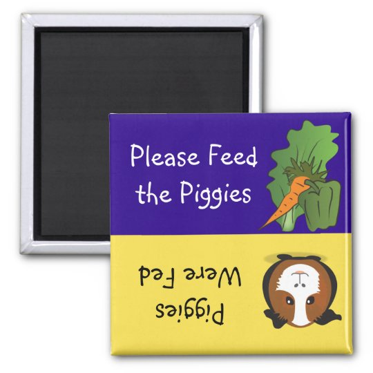 Please Feed the Piggies Square Magnet