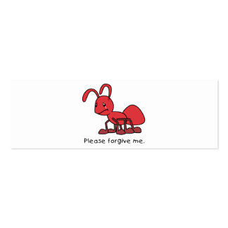 Please Forgive Me Crying Weeping Red Ant Mug Cap Business Card Template