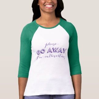 Please go away i'm introverting purple Introvert T-Shirt