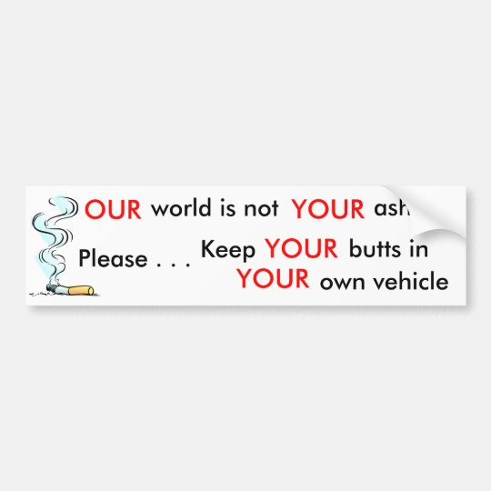 Please Help Keep Our Environment Clean... Bumper Sticker