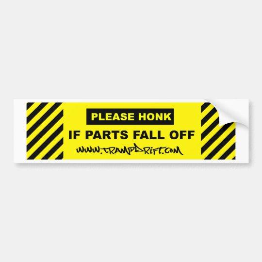please_honk_parts_02 bumper sticker