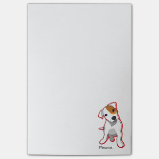 """Please"" Jack Russell Terrier Postit Notes"