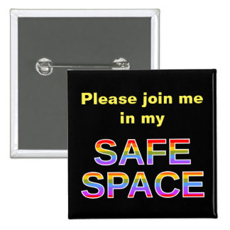 Please join me in my SAFE SPACE 15 Cm Square Badge
