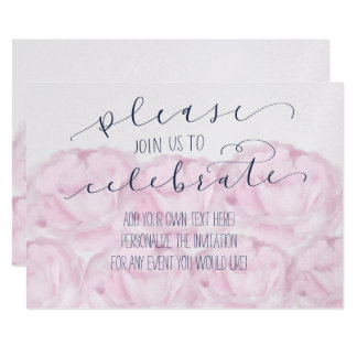 Please join us to celebrate calligraphy and peony card