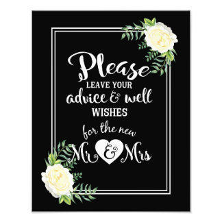 Please leave your advice & well wishes sign photo art