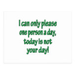 Please One Person A Day Post Card