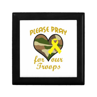 PLEASE PRAY FOR OUR TROOPS JEWELRY BOX