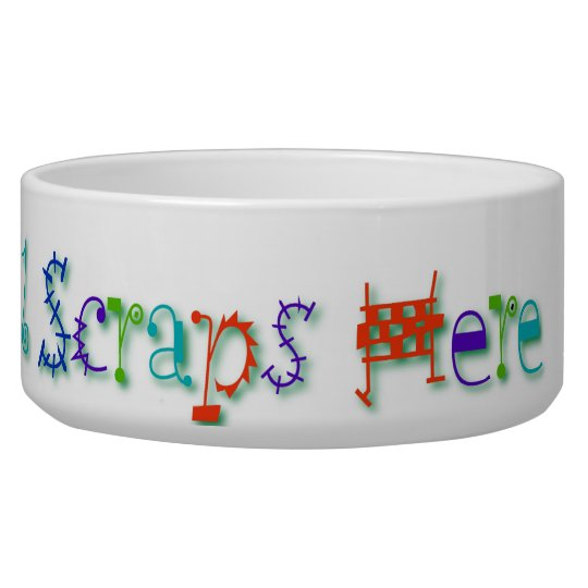 Please Recycle All Scraps Here Funny Dog Slogan Pet Water Bowl