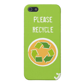 Please Recycle iPhone 5/5S Cover