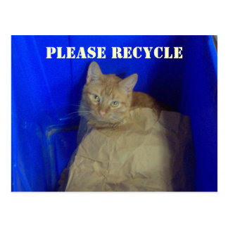 Please Recycle Postcard