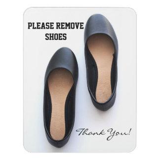 Please Remove Shoes Door Sign