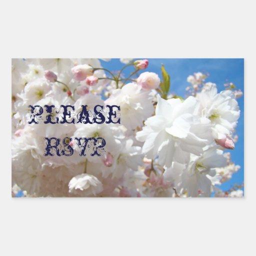 Please RSVP stickers seals Wedding Invitaions