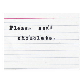 Please Send Chocolate Postcard