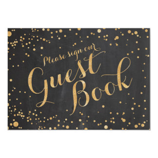 Please sign our guest book Wedding Sign, 13 Cm X 18 Cm Invitation Card