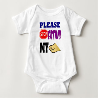 Please Stop Eating My Toes Baby Bodysuit