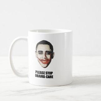 Please stop Obamacare Basic White Mug