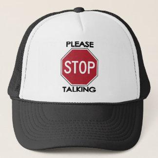 Please STOP Talking Cap