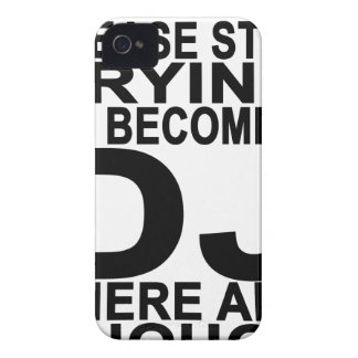 Please stop trying to become a DJ Women's T-shirts Case-Mate iPhone 4 Case