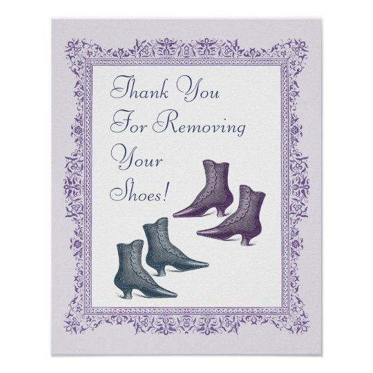 please take off your shoes sign. Black Bedroom Furniture Sets. Home Design Ideas