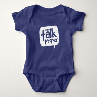 Please Talk Proper Baby Bodysuit