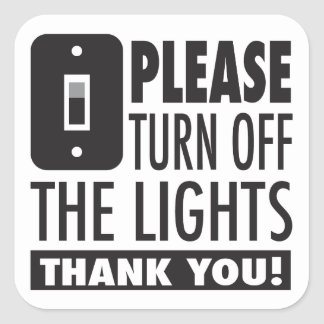 Please turn off the lights sticker