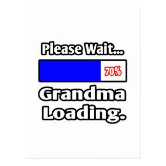 Please Wait Grandma Loading Postcards