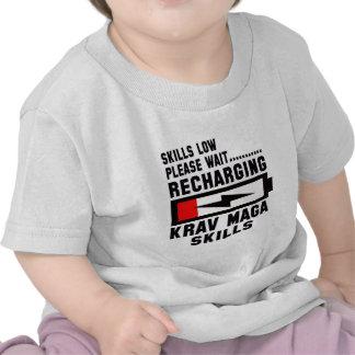 Please wait recharging Krav Maga skills T-shirt