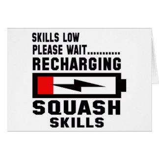 Please wait recharging Squash skills Greeting Card