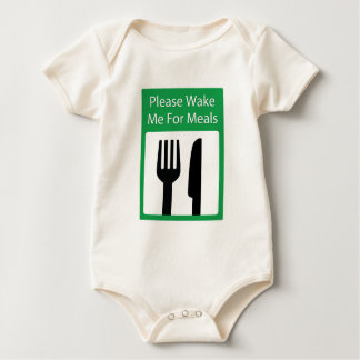 Please Wake Me For Meals Baby Bodysuit