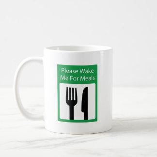 Please Wake Me For Meals Classic White Coffee Mug