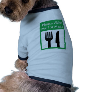 Please Wake Me For Meals Ringer Dog Shirt