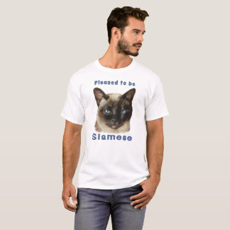 """""""Pleased to be Siamese"""" cute colorful Siamese Cat T-Shirt"""