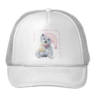 Pleasing Dreams Westie - in Pink Cap