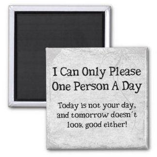 Pleasing Persons Square Magnet