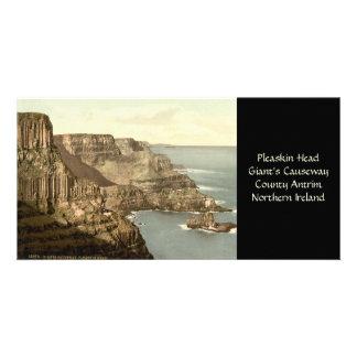 Pleaskin Head Giant s Causeway County Antrim Personalized Photo Card
