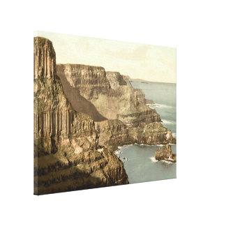 Pleaskin Head, Giant's Causeway, County Antrim Stretched Canvas Print