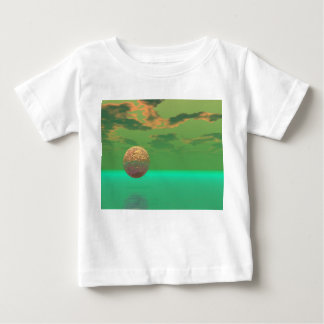 Pleasure, Abstract Green and Gold Completion Baby T-Shirt