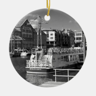 Pleasure boats on the York river Ouse. Christmas Ornament