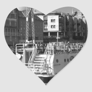 Pleasure boats on the York river Ouse. Heart Sticker