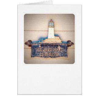 Pleasure Point Lighthouse Card