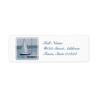 Pleasure Sail Return Address Mailing Label Return Address Label