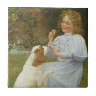Pleasures of Hope by Gore, Vintage Victorian Ceramic Tiles