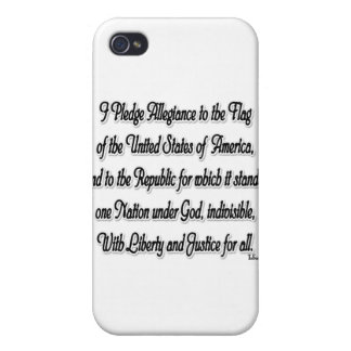 Pledge of Allegiance Cover For iPhone 4