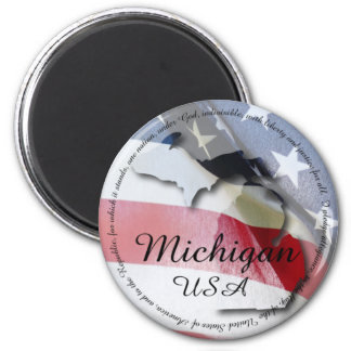 Pledge of Allegiance Michigan Fridge Magnet