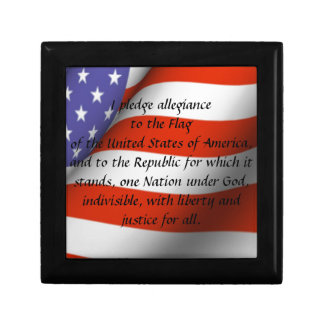 Pledge of Allegiance Small Square Gift Box